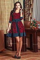Платье 0645 красный