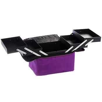 Кейс для косметики тканевый Master Professional квадратный Фиолетовый