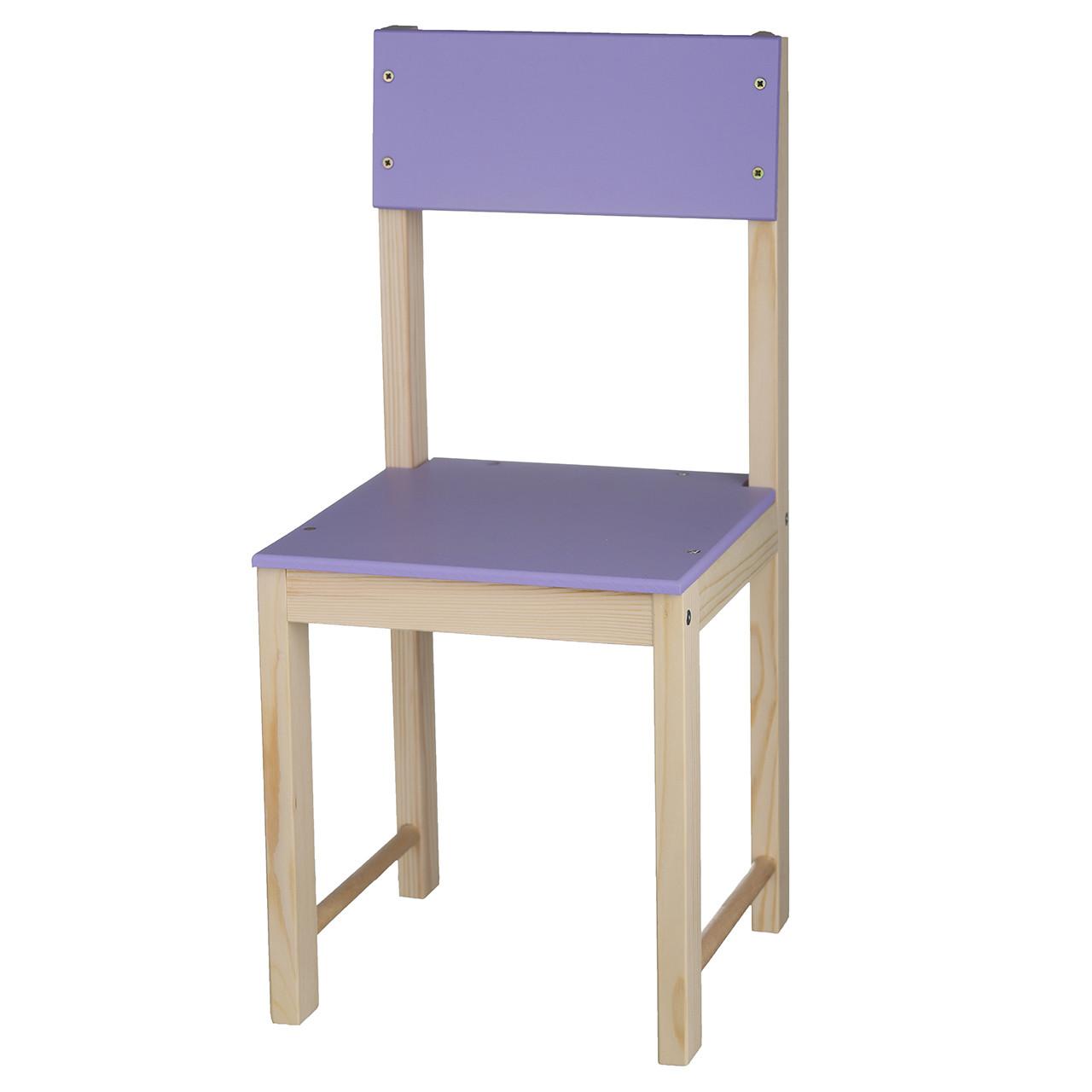 Детский стульчик деревянный ИГРУША 64 см Фиолетовый