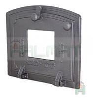 Дверки чугунные Halmat DPZS 315Х370 со стеклом. Дверцы для печи и барбекю, фото 1