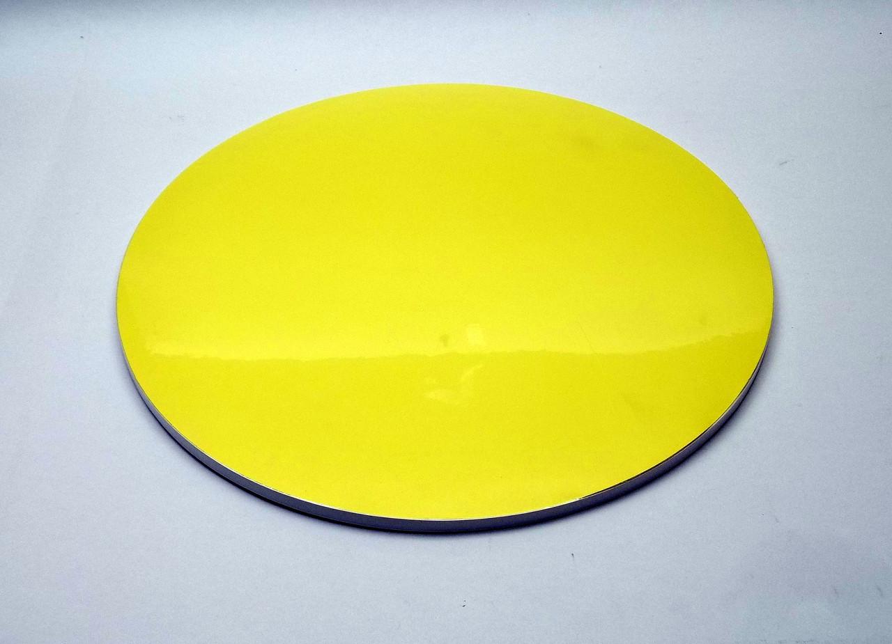 Подложка для торта d 30 см h 0,7 см желтая