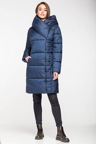 0d9dd2092c3 Женская зимняя куртка одеяло KTL-316 из новой коллекции 2018-2019 синяя  ( 540)