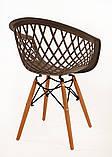 Кресло Viko, серо-кофейный, фото 4