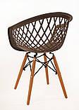 Кресло Viko, серо-кофейный, фото 3