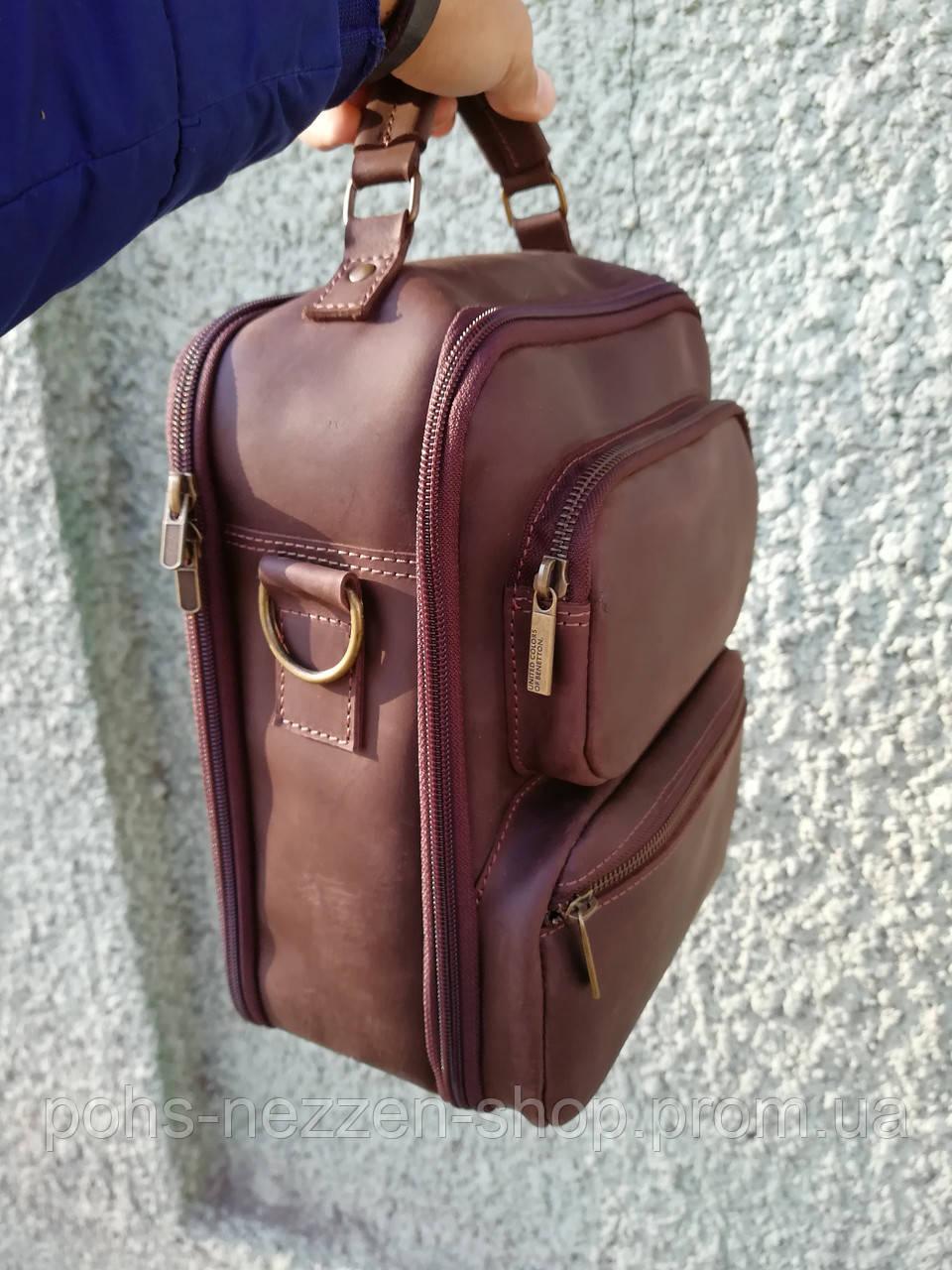 624649325e8b Мужская кожаная сумка через плечо, ручной работы. Светло-коричневый цвет. -  Zen