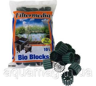 Наполнитель (биозагрузка)  Filtermedia Bio Blocks, 10л. для биофильтра, УЗВ, пруда, водоема, озера