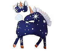 Игрушка - подушка Единорожка Ночка с маской для сна из Волшебного Королевства Маленького Единорога / ns - 07