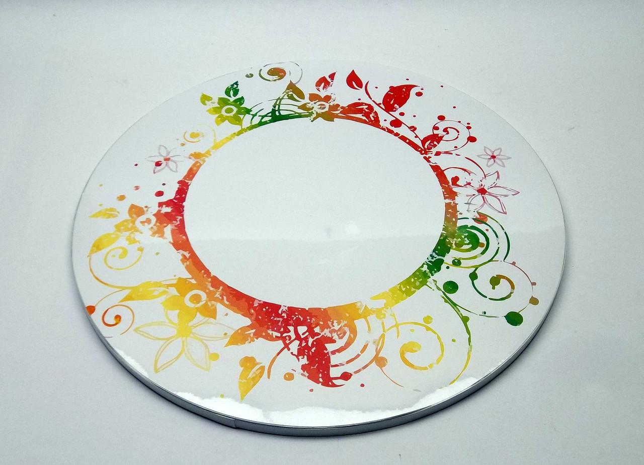 Подложка для торта d 30 см h 0,7 см с орнаментом