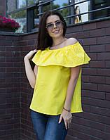 Блуза ВП-94 Лен желтый, фото 1