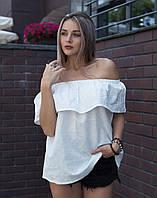 Блуза ВП-94 Лен белый, фото 1