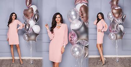 """Элегантное платье прямого кроя """"Донна"""" с разрезами на рукавах (2 цвета), фото 3"""