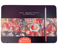 Набор цветных карандашей Marco FineArt 48 цветов металлический пенал
