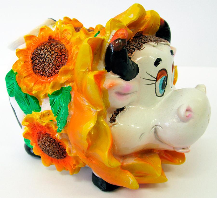 Корова в подсолнухах копилка (w8001w) - Магазин подарков Часики в Харькове