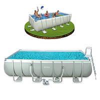 Каркасный бассейн Intex 28350 с фильтр-насосом 230V лестница