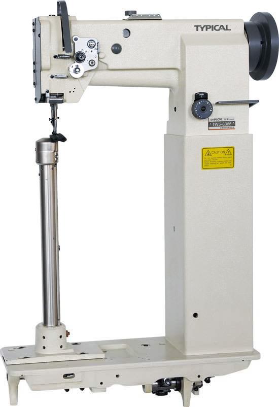 Typical TW5-8365, одноигольная колонковая промышленная швейная машина с тройным транспортом материала