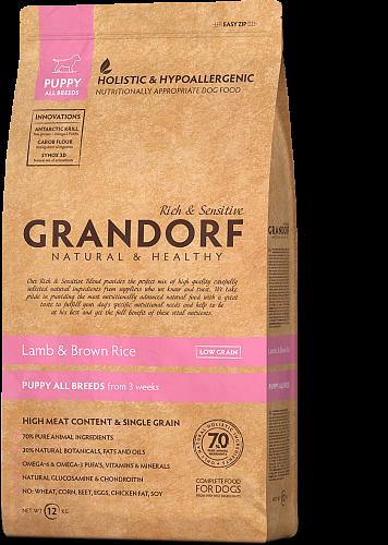 Сухий корм Grandorf Sensitive Care Holistic Lamb & Brown Rice Puppy (для цуценят з ягням і рисом) 3кг