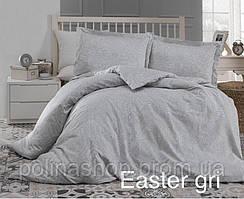 """Комплект постельного белья ALTINBASAK Сатин Deluxe """"Easter gri"""" Полуторный"""