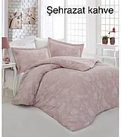 """Комплект постельного белья ALTINBASAK Сатин Deluxe """"Sehrazat kahve"""" Полуторный"""