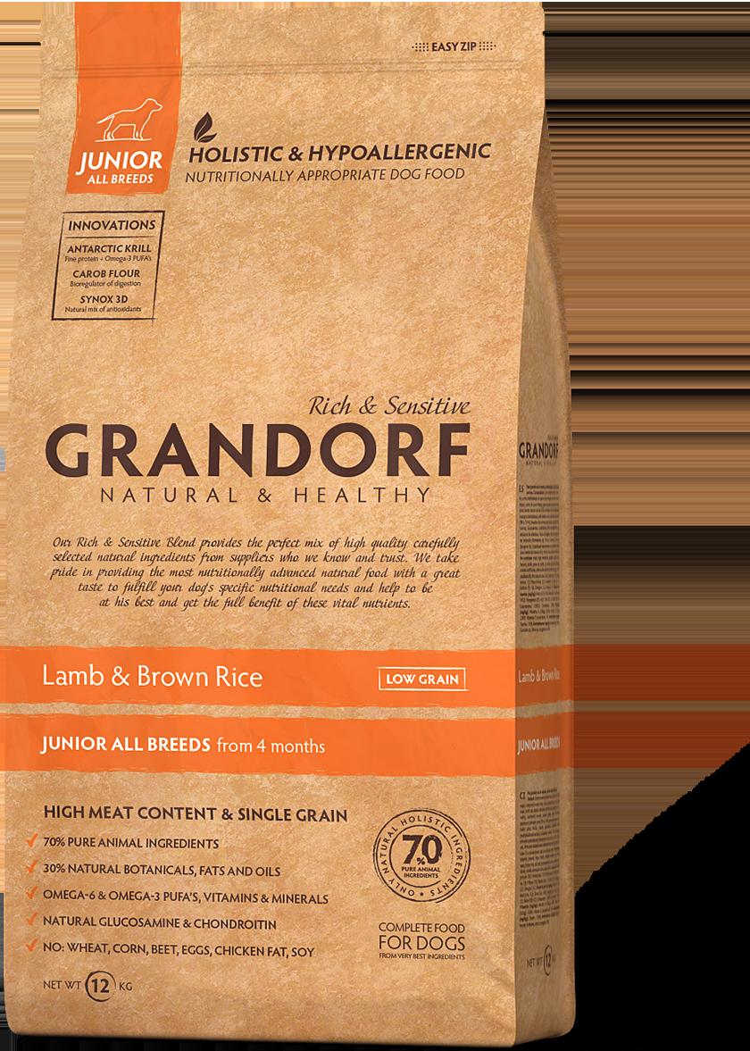 Сухой корм Grandorf Sensitive Care Holistic Lamb & Brown Rice Junior (для щенков с ягненком и рисом) 1кг
