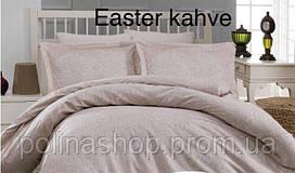 """Комплект постельного белья ALTINBASAK Сатин Deluxe """"Easter kahve"""" Полуторный"""