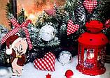 Игрушка на елку , символ 2019 года - Свинка с колокольчиком. Porky Pig на ёлку, фото 3