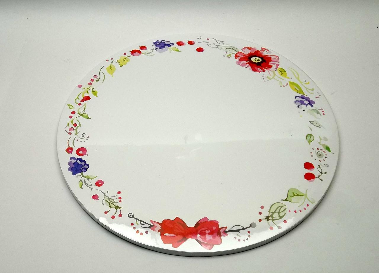 Подложка для торта d 30 см h 0,7 см с цветами