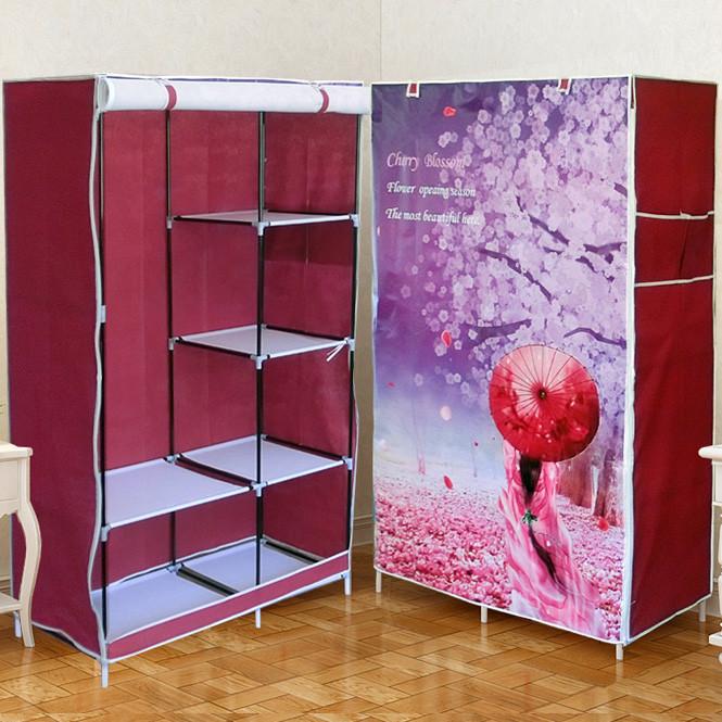 """Шкаф - гардероб тканевый складной  """"Сакура"""""""
