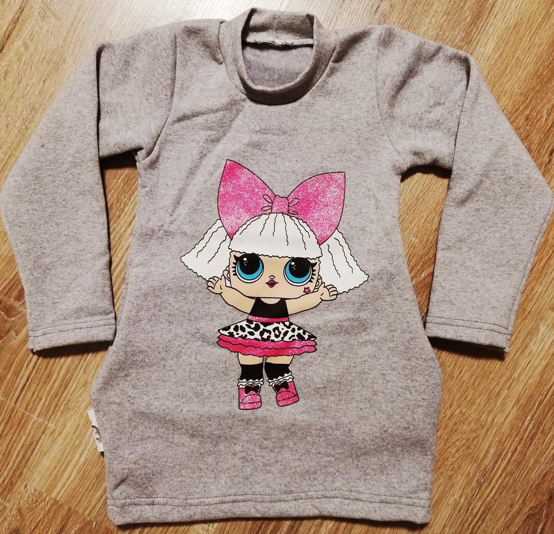 Детская туника платье LOL с боковыми карманами из тринити 10578479c0eca