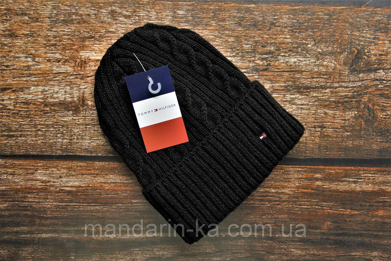 Черная мужская шапка реплика