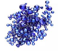 """Камни """"микс"""" синие размер от 3 до 10 Global Fashion"""