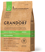 Сухой корм Grandorf Sensitive Care Holistic Lamb & Brown Rice Mini (для собак малых пород с ягненком) 3кг
