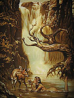 Картина из янтаря. Панно 49