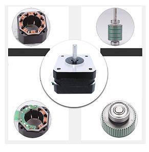 Шаговый двигатель NEMA17 0/7A для 3D-принтера, ЧПУ, фото 2