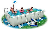 Каркасный прямоугольный бассейн Ultra Frame Rectangular Pools Intex 28352