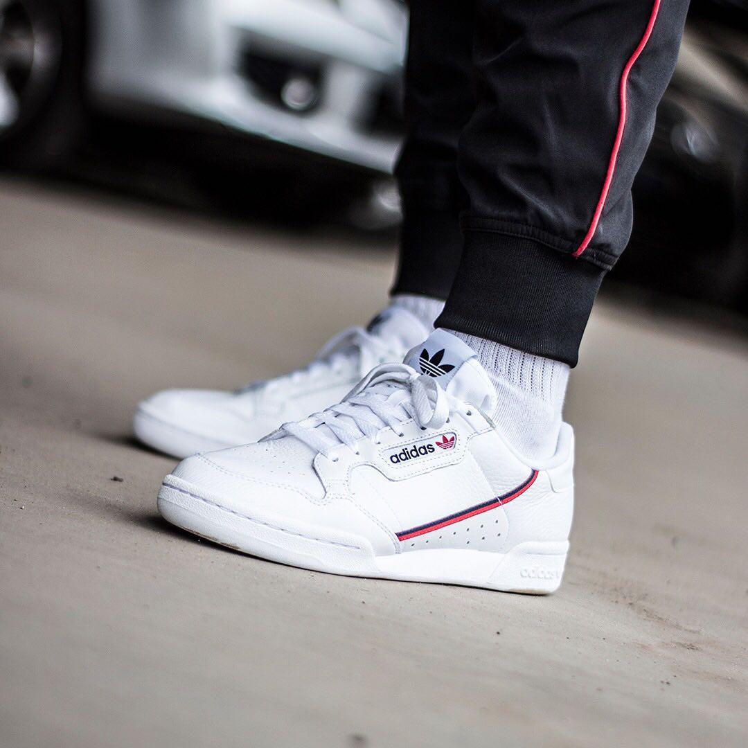 6e7538da Кроссовки adidas Continental 80 (Ftwr White / Scarlet / Collegiate Navy)