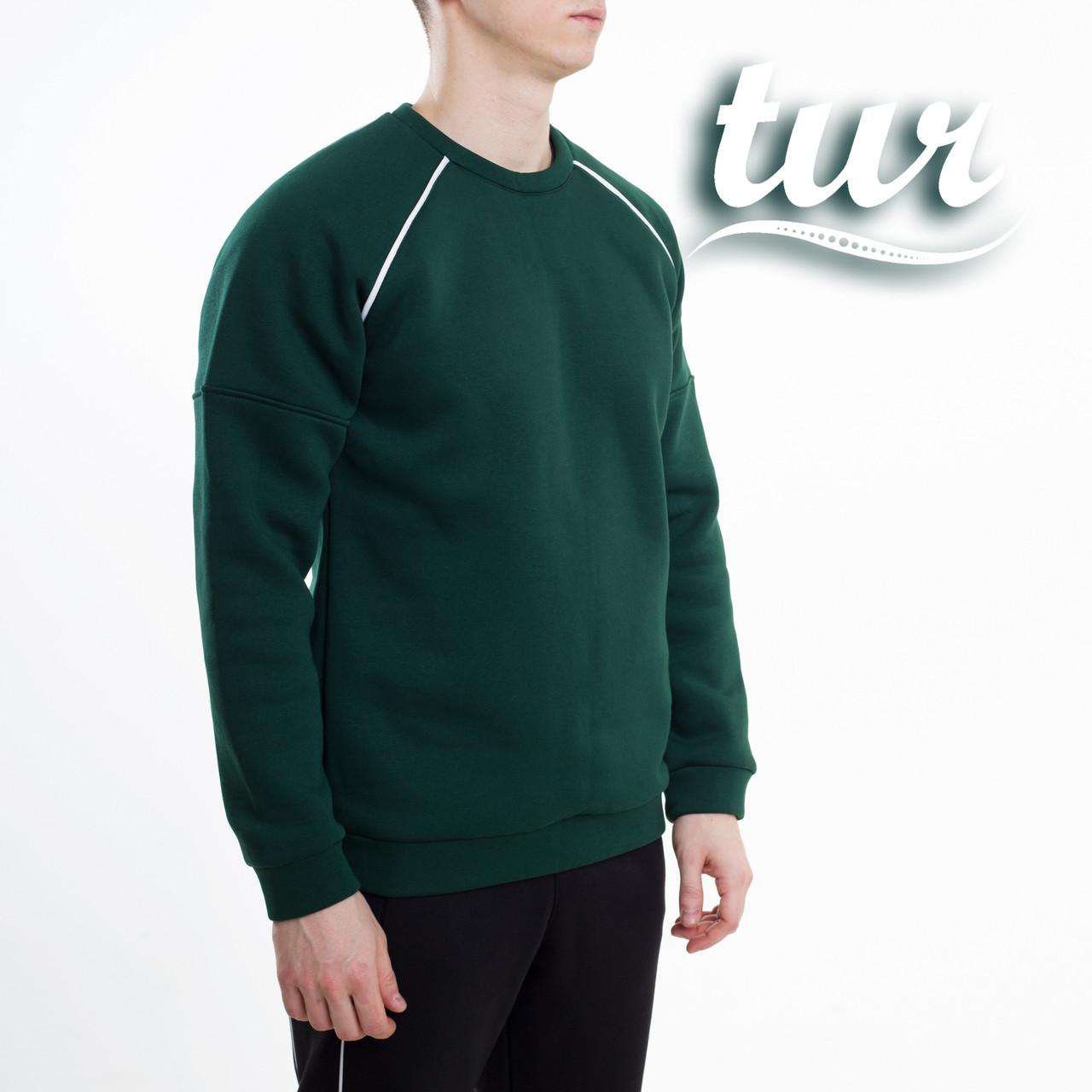 Зимний свитшот реглан мужской зеленый от бренда ТУР Сектор (Sector) размер S, M, L, XL