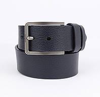 Кожаный ремень под джинсы Maybik 15010 синий 40 мм