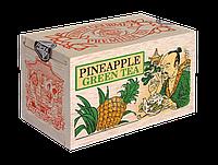 Зелений крупнолистовий чай Ананас, PINEAPPLE GREEN TEA, Млесна (Mlesna) 100г.