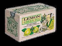 Зеленый крупнолистовой чай Лимон, LEMON GREEN TEA, Млесна (Mlesna) 100г.