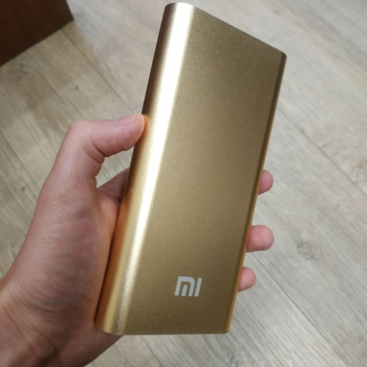 Портативная зарядка Павер банк внешний аккумулятор Xiaomi Power Bank 20800 мАч золотой реплика, фото 1