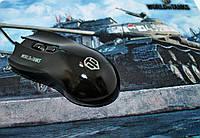 Игровая проводная мышь для компьютера с подсветкой и ковриком World Of Tanks Танки, фото 1