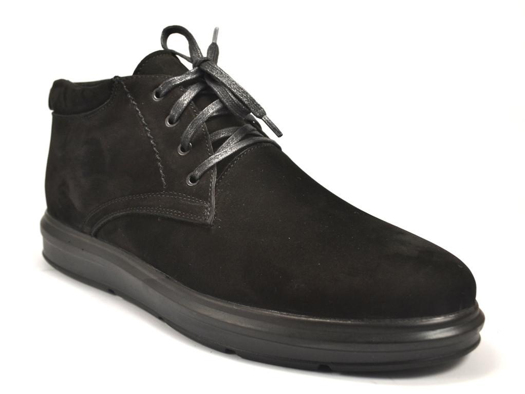 Большой размер зимние кроссовки мужские ботинки Rosso Avangard Bon Black Vel черный нубук