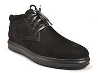 Большой размер зимние кроссовки мужские ботинки Rosso Avangard Bon Black Vel черный нубук, фото 1