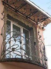 Кованые перила на балкон модель №2