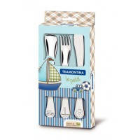 Набор столовых приборов Tramontina BABY Le Petit blue X3 прибора