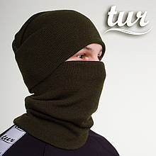 Зимняя шапка хаки унисекс Бран (Bran) от бренда ТУР