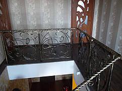 Кованые перила на балкон модель №3
