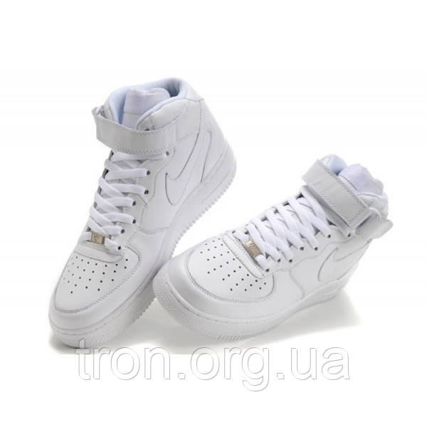 c95d1e8e Кроссовки Женские NIKE AIR FORCE Mid 1 All White, цена 1 095 грн ...
