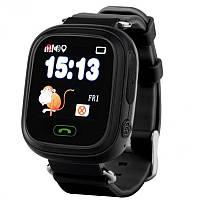 ✓Смарт-часы UWatch Q90 Black детские Кнопка SOS GPS трекером Сим Блютуз  Громкая связь d44c9a9f553a4