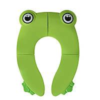 Накладка на унитаз детская складная FROG GREEN, фото 1